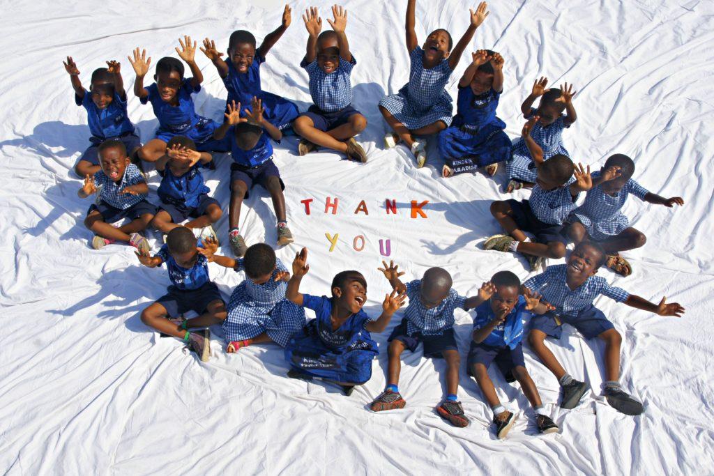 Danke Spender Kinderhilfe Afrika Kinder Paradise